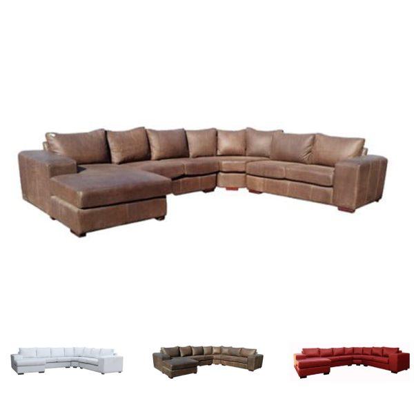 Mod XL corner unit + chaise leather