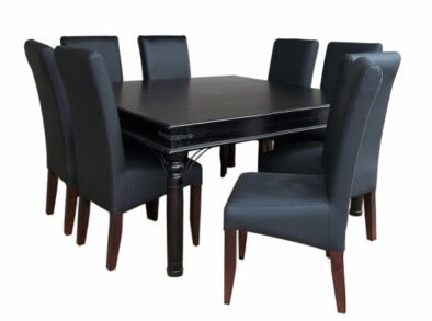 ANNA 9PC SQ DINING SET SPECIAL (BONDED PU)