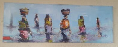 AFRICAN OIL PAINTING (1500 X 500) LADIES