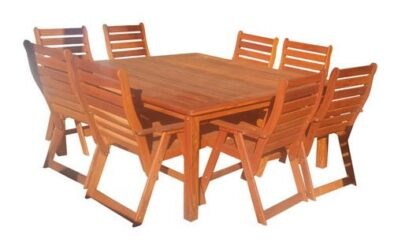 BAY 8SEATER SQUARE TABLE (1700 X 1700) 'SOLID TEAK'