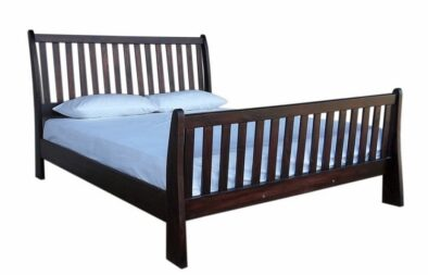 BUD SLEIGH BED (DOUBLE) 'MAHOGANY'