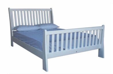 BUD SLEIGH BED (DOUBLE) 'WHITE'