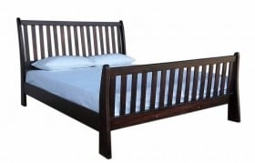 BUD SLEIGH BED (KING) 'MAHOGANY'