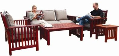 BAY MORRIS 5PC SET SPECIAL 'SOLID TEAK' excluding cushions