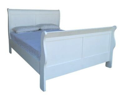 KAREN SLEIGH BED (DOUBLE) WHITE