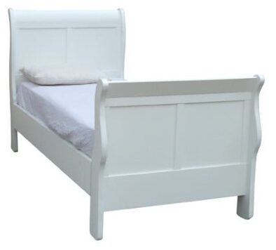 KAREN SLEIGH BED (3/4) WHITE