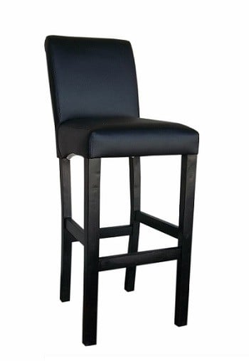 KING SLEIGH BAR CHAIR 'BONDED PU' black
