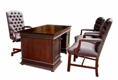 PARTNERS 4PC OFFICE SET SPECIAL 'BONDED PU'