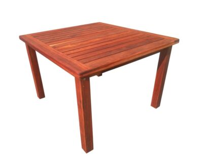 BAY 4SEATER TABLE (1100 X 1100) 'SOLID TEAK'
