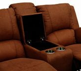 PREMIER 2SEATER RECLINER (CONSOLE) 'COFFEE' MOCHA