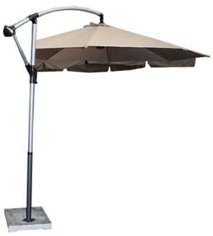HORIZON UMBRELLA (3M) incl base 'KHAKI'