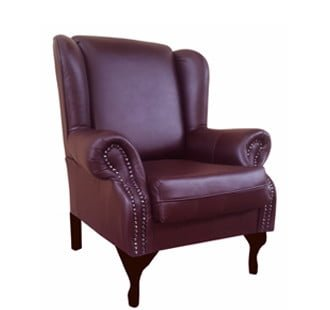 WINCHESTER WINGBACK 'LEATHER' STD -cape oxblood-