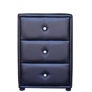AMELIA PEDESTAL 3 DRAWER 'BONDED PU' black