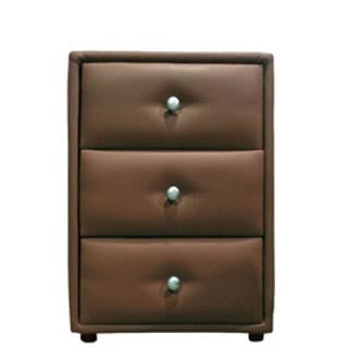 AMELIA PEDESTAL 3 DRAWER 'BONDED PU' brown
