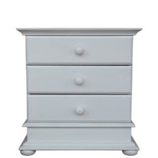 ANTIQUE 3 DRAWER CHEST 'WHITE'