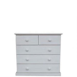 BUD CHEST TALL 2X3 DRAWER -WHITE-