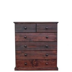 BUD CHEST TALL 2X4 DRAWER -MAHOGANY-