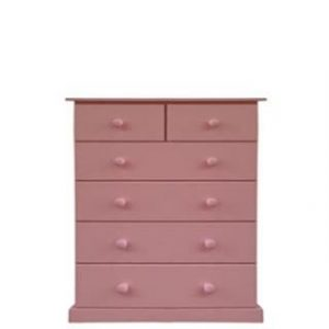 BUD CHEST TALL 2X4 DRAWER -PINK-