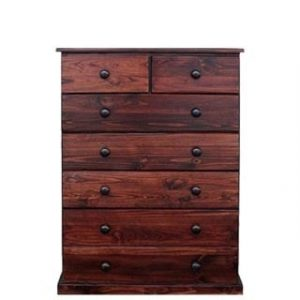 BUD CHEST TALL 2X5 DRAWER -MAHOGANY-