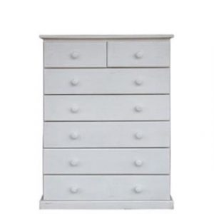 BUD CHEST TALL 2X5 DRAWER -WHITE-