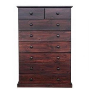 BUD CHEST TALL 2X6 DRAWER -MAHOGANY-