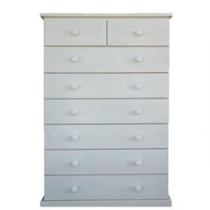 BUD CHEST TALL 2X6 DRAWER -WHITE-