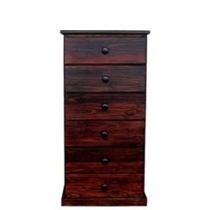 BUD CHEST 6 DRAWER -MAHOGANY-