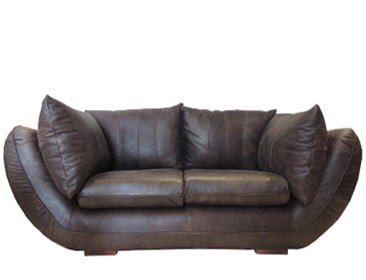 GORDINI 2SEATER SOFA (2230 X 1050) 'LEATHER BUFFED' -brown-