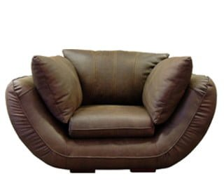 GORDINI ARMCHAIR (1540 X 1050) 'LEATHER BUFFED' brown