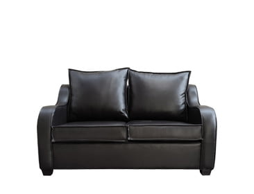 LOGAN 2SEATER SOFA (1500 X 900) 'BONDED PU' black