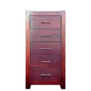 MOD 5 DRAWER TALLBOY 'LIGHT MAHOGANY'