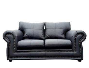 ROXANNE 2SEATER SOFA (2000 X 900) 'LEATHER STANDARD' black