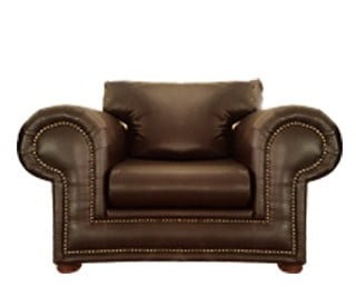 ROXY ARMCHAIR (1420 X 950) 'BONDED PU' brown