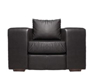SHAKA ARMCHAIR (1250 X 900) 'BONDED PU' black