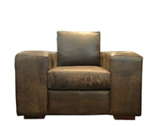 SHAKA ARMCHAIR (1250 X 900) 'LEATHER BUFFED' whiskey
