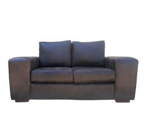 SHAKA 2SEATER SOFA (1800 X 900) 'LEATHER BUFFED' -brown-