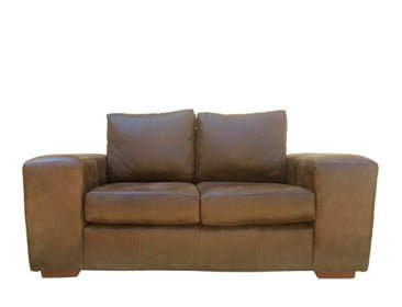 SHAKA 2SEATER SOFA (1800 X 900) 'LEATHER BUFFED' -whiskey-