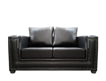 TOWNHOUSE 2SEATER SOFA (1750 X 940) 'PU' black
