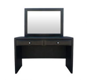 AMELIA DRESSING TABLE 'BONDED PU' black