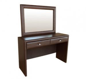 AMELIA DRESSING TABLE 'BONDED PU' brown