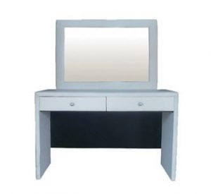 AMELIA DRESSING TABLE 'BONDED PU' white