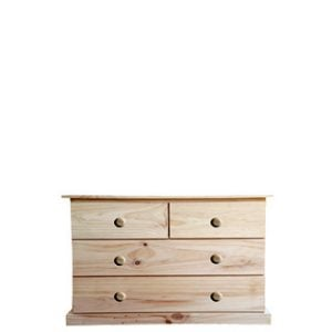 BUD CHEST TALL 2X2 DRAWER -VARNISHED-