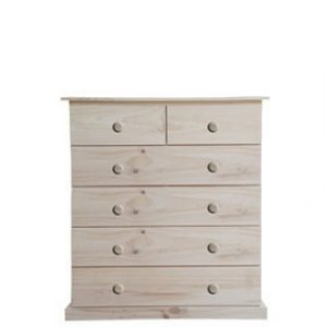 BUD CHEST TALL 2X4 DRAWER -RAW-