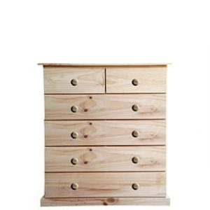 BUD CHEST TALL 2X4 DRAWER -VARNISHED-