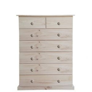 BUD CHEST TALL 2X5 DRAWER -RAW-