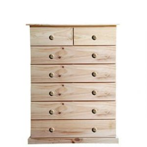 BUD CHEST TALL 2X5 DRAWER -VARNISHED-