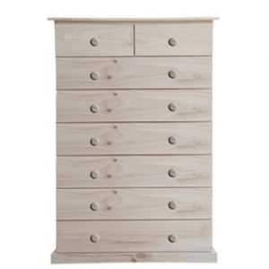 BUD CHEST TALL 2X6 DRAWER -RAW-