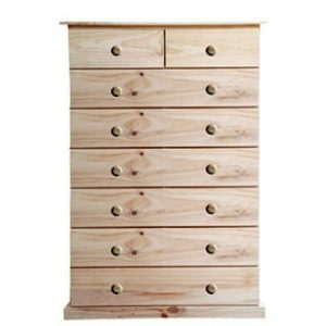 BUD CHEST TALL 2X6 DRAWER -VARNISHED-