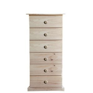 BUD CHEST 6 DRAWER -VARNISHED-