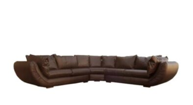 GORDINI CORNER UNIT (3350 X 3350 X 1050) 'BONDED PU' brown